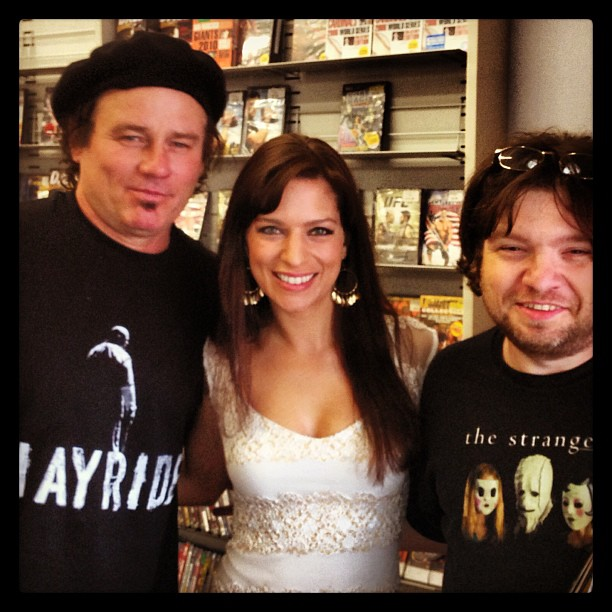 Richard Tyson, Sherri Eakin, and James DePaolo of Wicked Channel at the Hayride DVD signing May 11, 2013.
